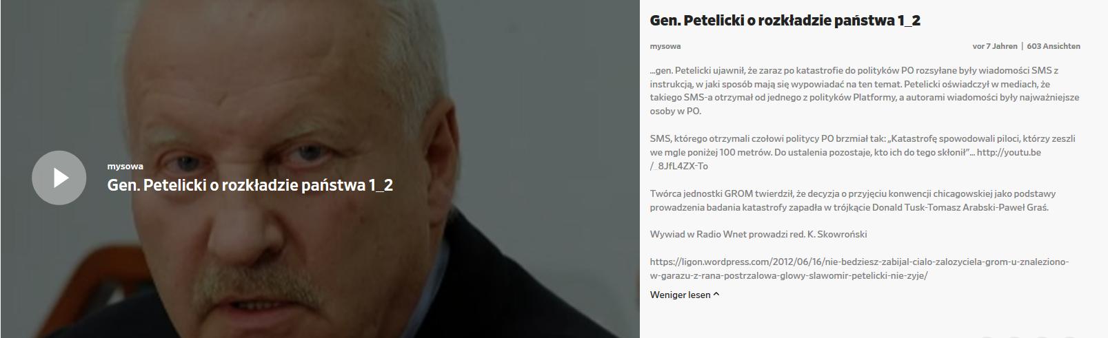 Screenshot_2019-06-05 Gen Petelicki o rozkładzie państwa 1_2 - video dailymotion