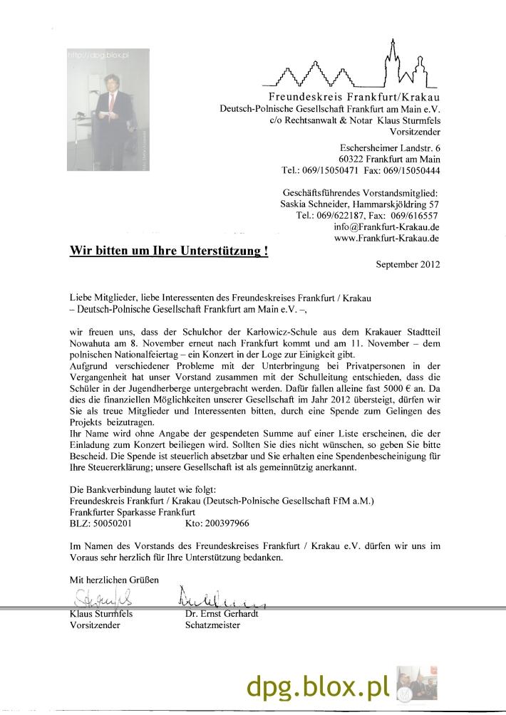 ObAm 11 November - ein Konzert in der Loge zur Einigkeit. Wir bitten um Ihre Unterstützung!