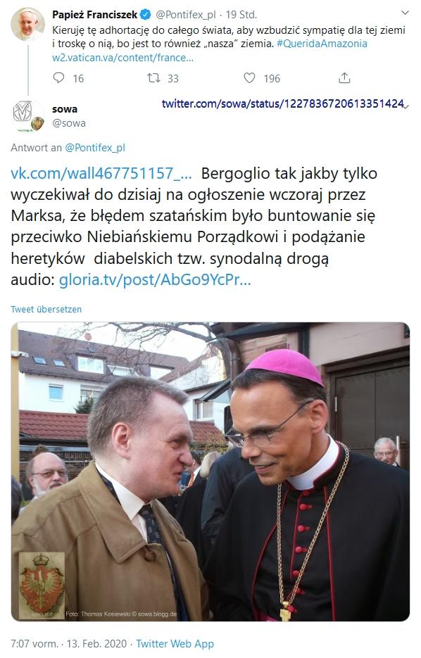 Screenshot_2020-02-13 sowa auf Twitter Pontifex_pl https t co wmcEr0GnLT Bergoglio tak jakby tylko wyczekiwał do dzisiaj na[...]