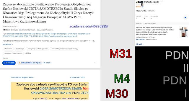 https://www.academia.edu/40836335/Zaplecze_abo_zadupie_cywilizacyjne_Fascynacja_Ob%C5%82%C4%99dem_von_Stefan_Kosiewski_CIOTA_SAMOTRZECIA_Studia_Slavica_et_Khazarica_M31_Prolegomena_do_Niebopolityki_II_Zarys_Estetyki_Chazar%C3%B3w_20191104_Magazyn_Europejski_SOWA_Panu_Marcinowi_Krzy%C5%BCanowskiemu